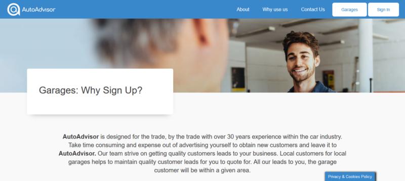 Service & repair comparison site AutoAdvisor.co.uk sets out vision