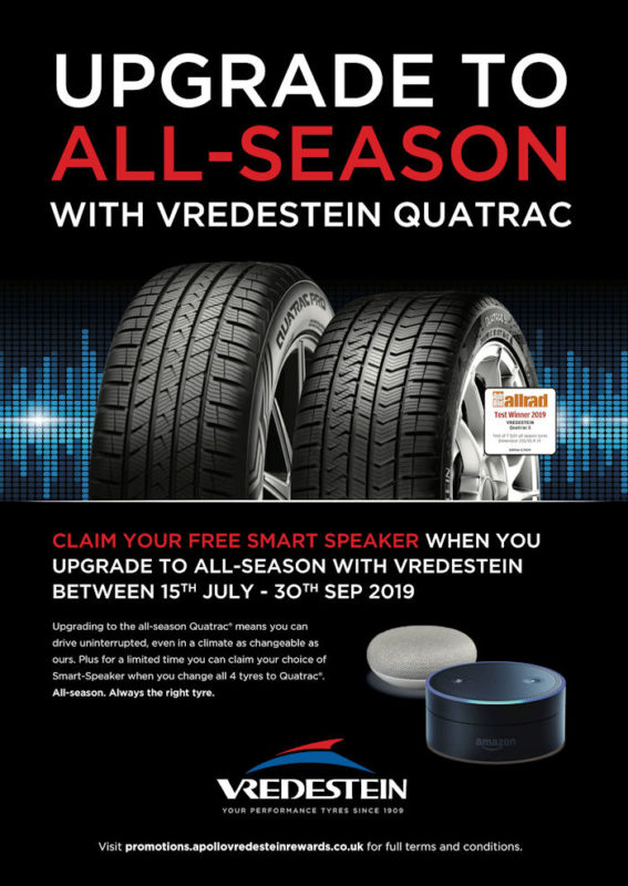 Vredestein campaign to encourage all-season tyre use