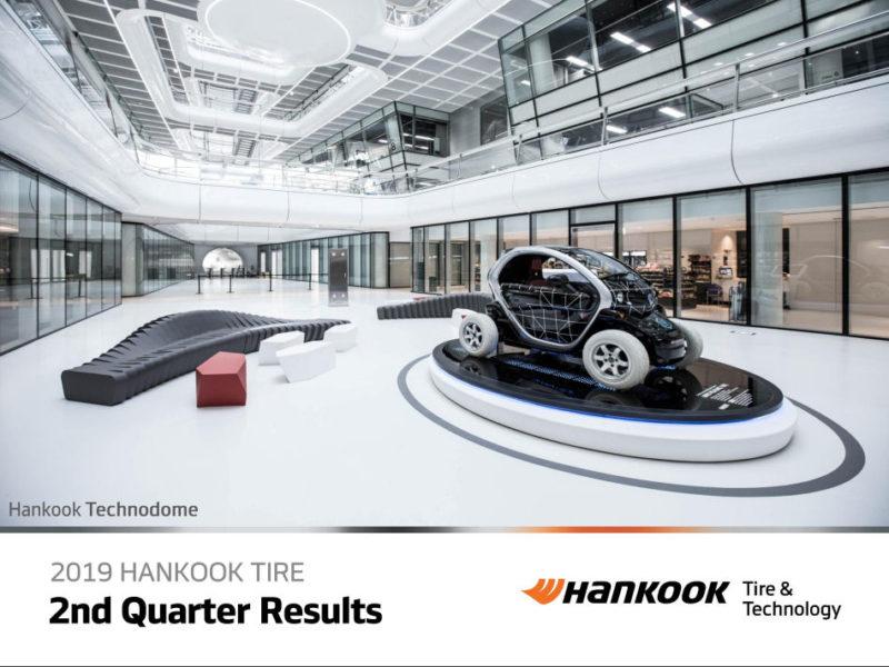 Hankook Tire: Lower profits in H1 2019