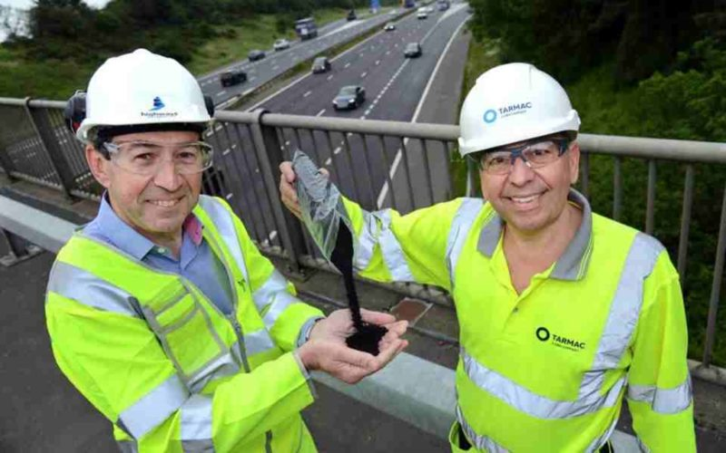 UK testing for motorway surfaced with recycled tyres