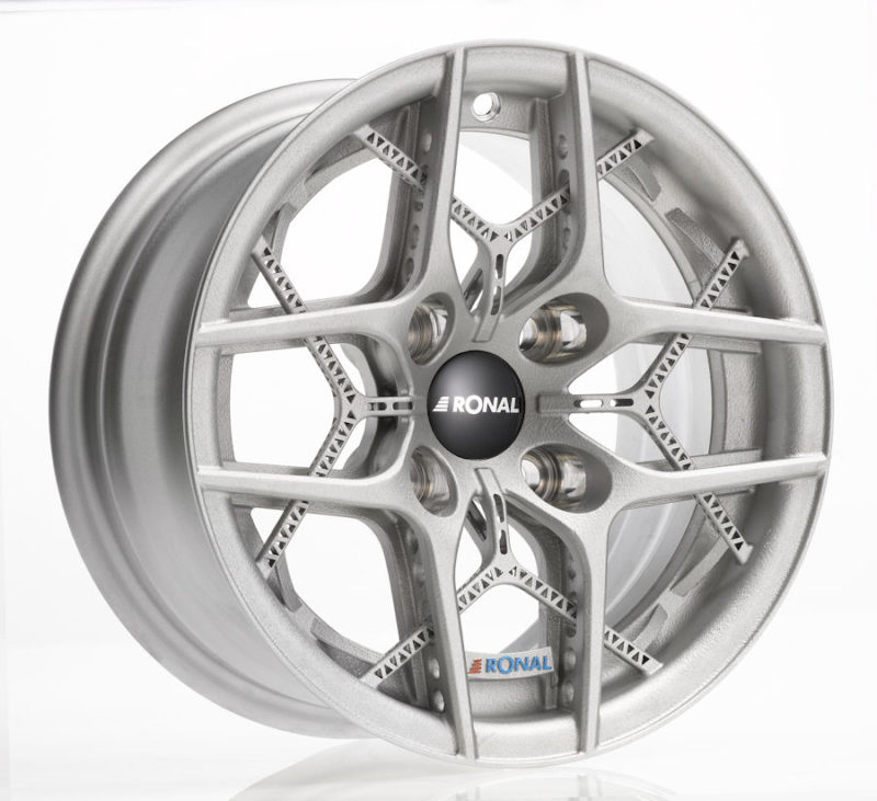 Ronal presents one-piece 3D printed alloy wheel