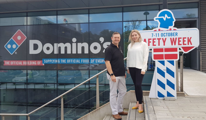 Domino's gets a slice of the Tyre Safety Month action