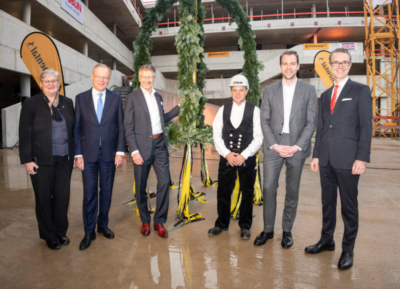 Continental holds HQ topping out ceremony