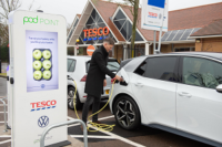 Volkswagen and Tesco roll out free EV charging network