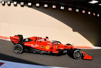 Vettel Ferrari Pirelli F1 2020 tyre