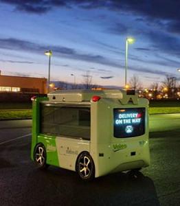 Valeo unveils autonomous, electric delivery droid