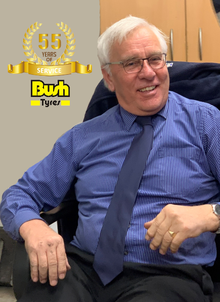 Bush Tyres' Ken Nicholson records 55 years of service