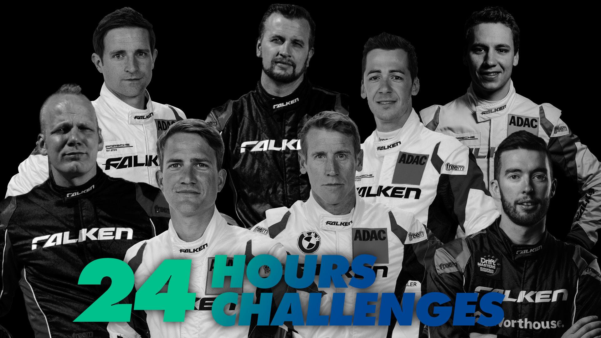 24 challenges in 24 hours for Falken