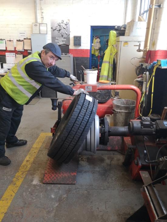 Calvagh O'Donnell, a Translink technician at the Belfast Short Strand Depot