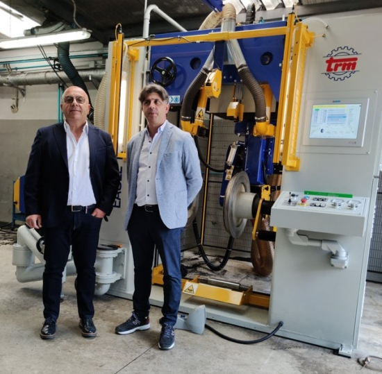 Vito Scaringella (right) the owner of Corgom and Saverio Musto sales director of TRM (left).