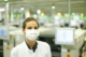 Masks, worn by Continental employees at the firm's Regensburg's electronics centre, are just one outward sign of what is taking place as a result of the coronavirus