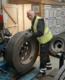 Sam Gilmore, a Translink technician at Bridgestone's Lisburn depot