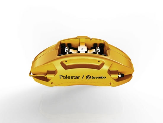 Brembo is to produce the two-piece four-piston aluminium front calipers and Brembo's exclusive dual-cast floating brake disc for the Polestar 2 (Photo: Brembo)