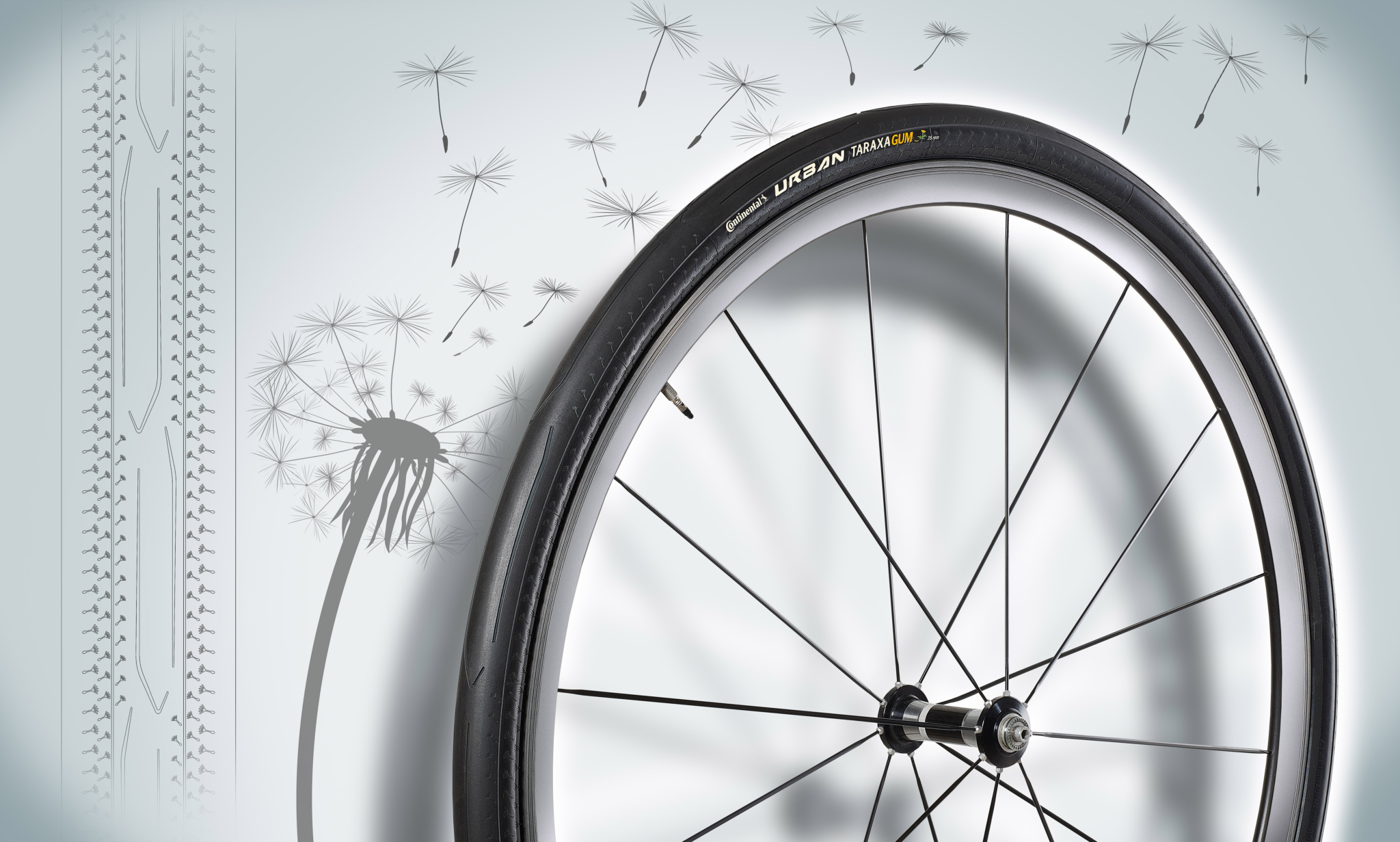 Two awards for Continental dandelion rubber bicycle tyres