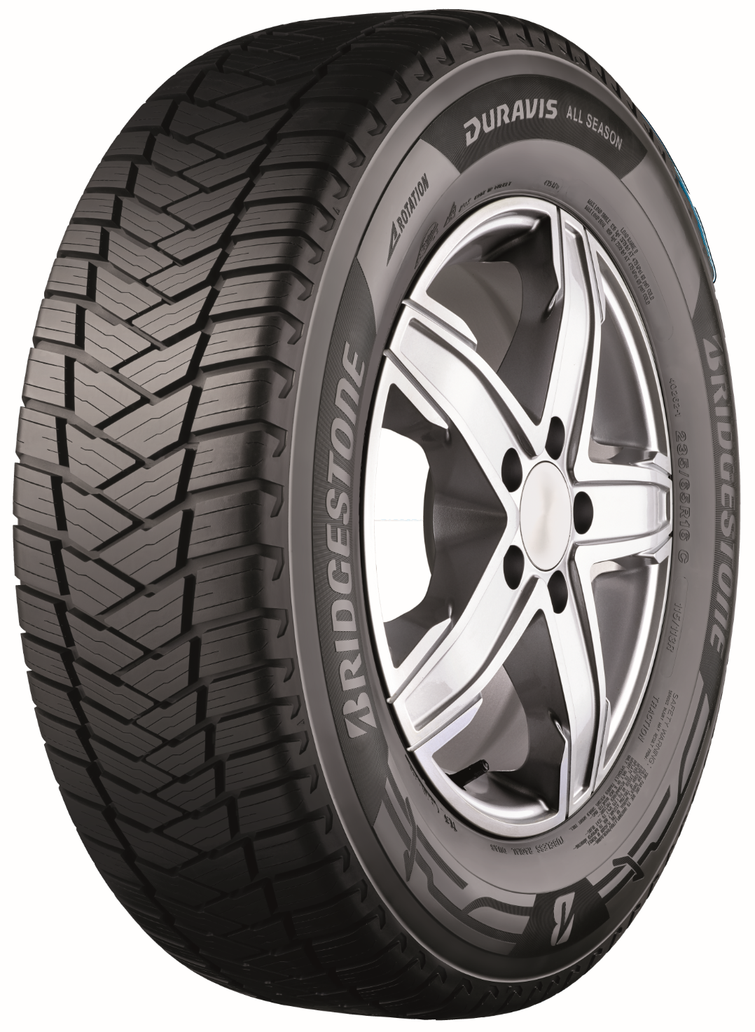Bridgestone launches A-rated Duravis All Season light truck tyre