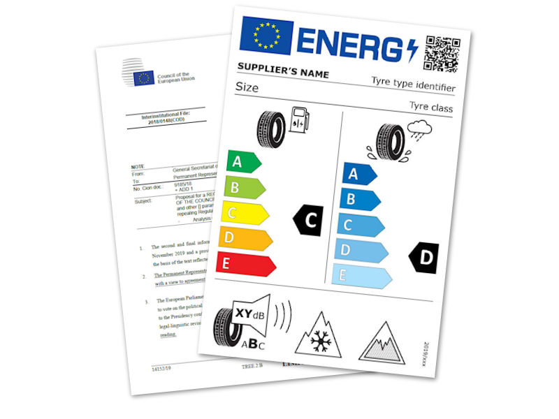 Tyre labelling legislation: New and old labels will co-exist