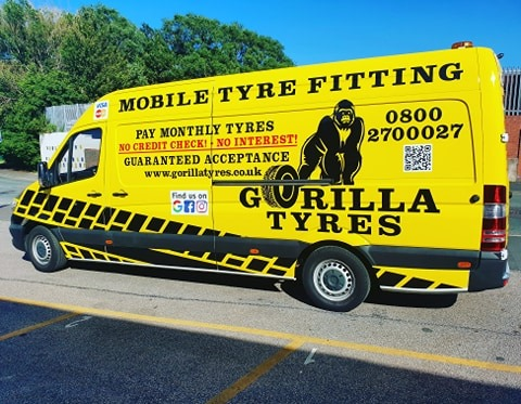 As a result of the purchase of the latest Mercedes Sprinter van during June, Gorilla Tyres now has a fleet of eight vehicles and can reportedly cover a significant part of the North West (Photo: John Stone; Stone Tyres; Gorilla tyres)