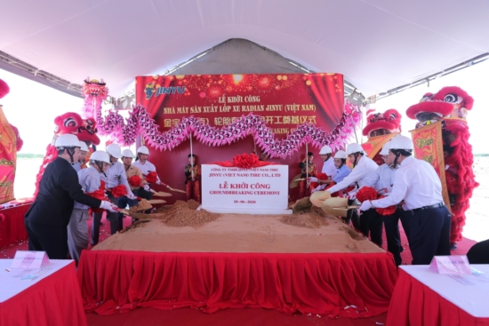 The groundbreaking at Jinyu Vietnam (Photo: Jinyu)