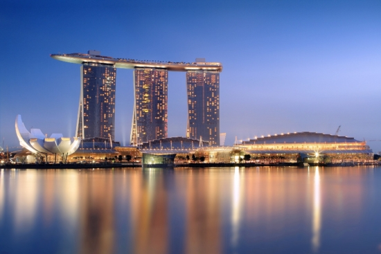 Marina Bay Sands in the heart of Singapore's city centre