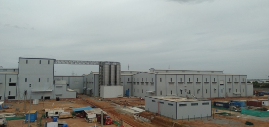 Currently, the built-up area of this facility is 216000 square metres, and it employs around 850 people