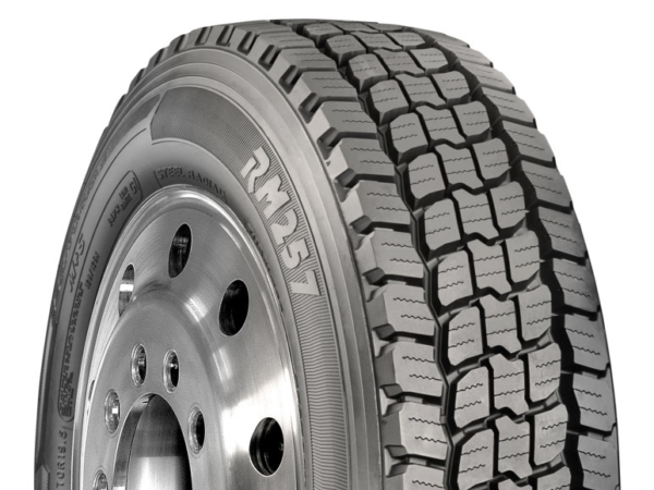 The Roadmaster RM257 is an entirely new drive tyre that a Three-Peak Mountain Snowflake certification. (Photo: Cooper Tire)