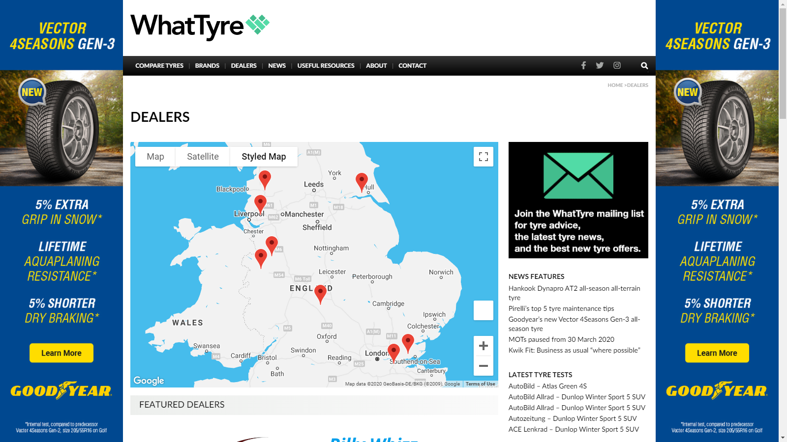 WhatTyre Dealer Listing (1 year recurring) - £250