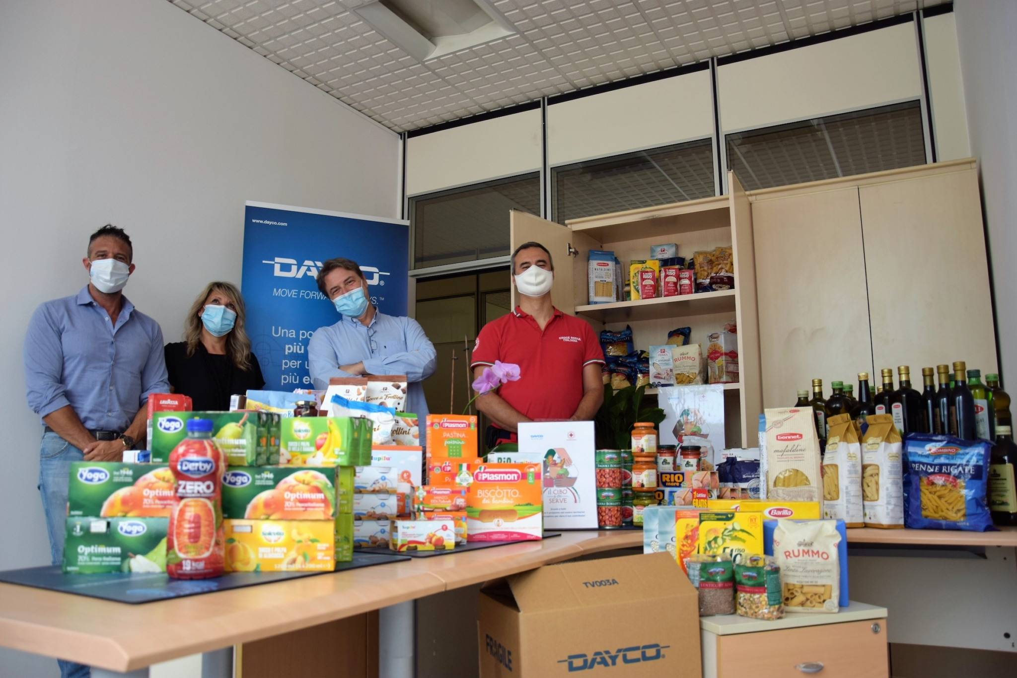 Dayco opens food bank at Italian facilities