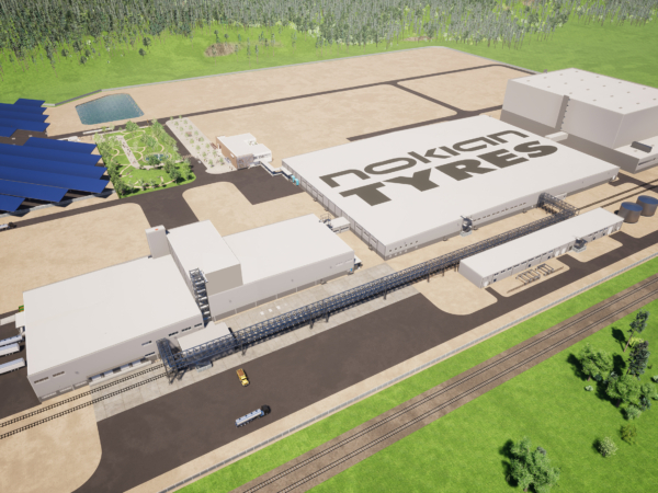 What the Nokian Tyres, Dayton USA plant will look like when it is finished (Photo: Nokian)