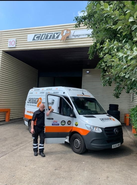 "According to Graham Simpson, sales development and marketing manager, City 1st Tyres, Highway Hero Martin Foster has ""excelled in the role, particularly over the last few months, during Covid-19"""
