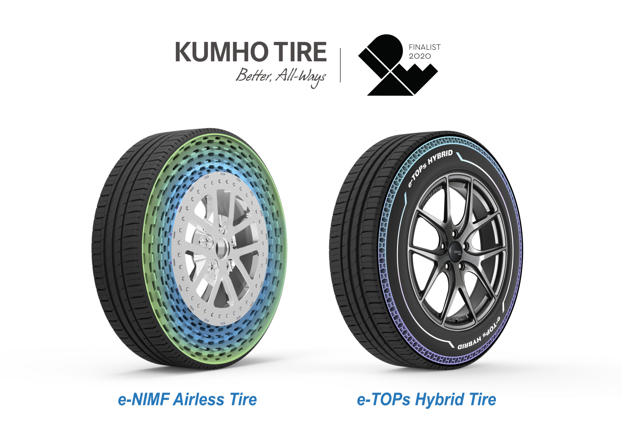 Kumho wins Idea design awards for airless and hybrid tyres