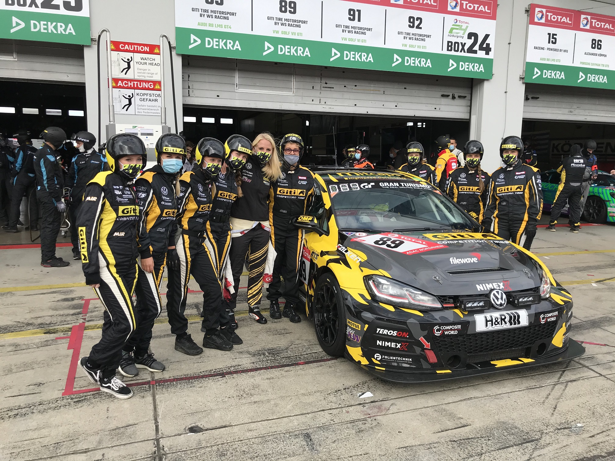 Class podiums for four Giti Motorsport teams at Nürburgring 24-Hour