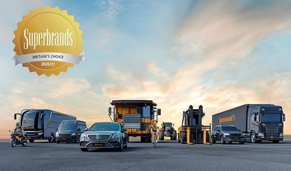 Continental Tyres awarded 2020/21 Superbrands Status