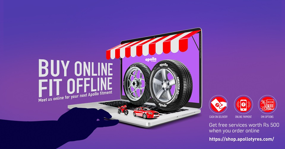 Apollo launches e-commerce portal for car, motorcycle tyre direct sales in India