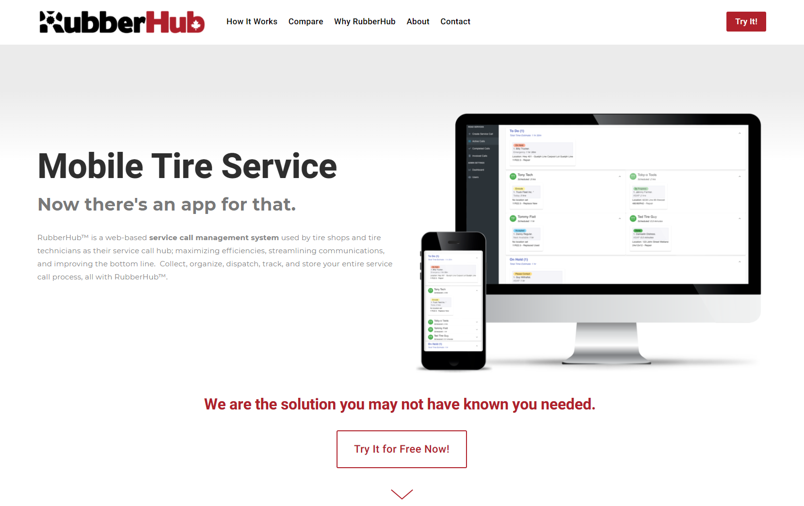 Using technology to create efficiencies in mobile tyre service