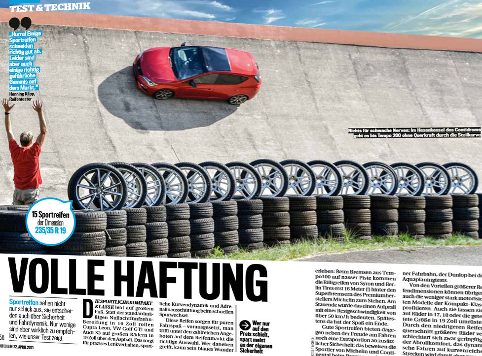 Get a grip – Auto Bild tests performance tyres for compact cars
