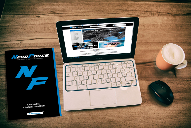NeroForce supporting online sales with print catalogue