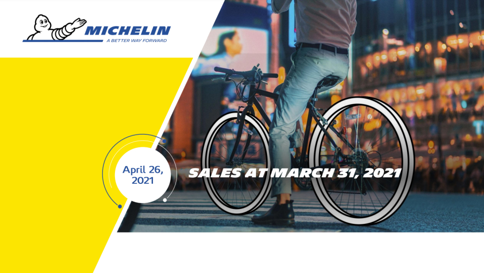 Michelin: Volumes up 7.5% in Q1 2021