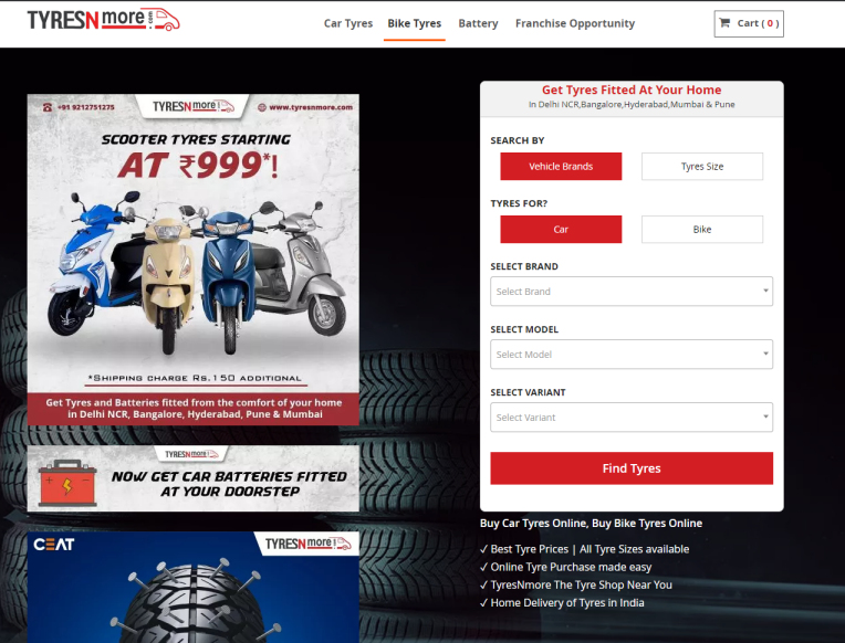 Ceat increases shareholding in Indian portal Tyresnmore