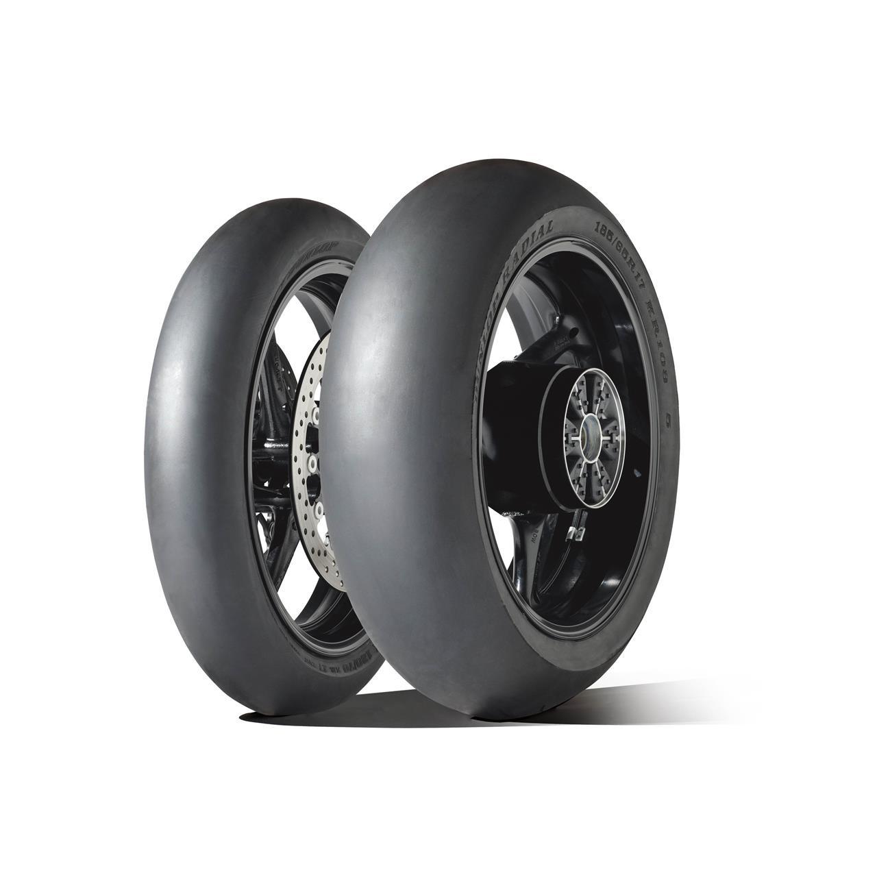 Dunlop tops magazine test of slick motorcycle tyres
