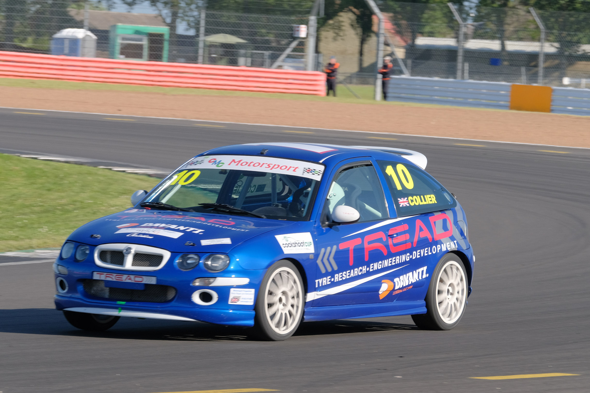 Tread test driver triumphs at Silverstone in MG series