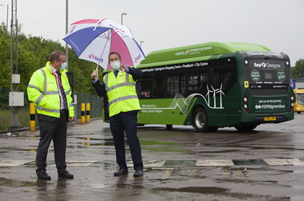 First Bus begin works on UK's biggest electric vehicle charging station at flagship Glasgow depot