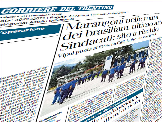 Marangoni's Rovereto workforce concerned for future as Vipal deal looms