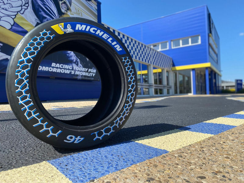 Michelin presents sustainable race tyre