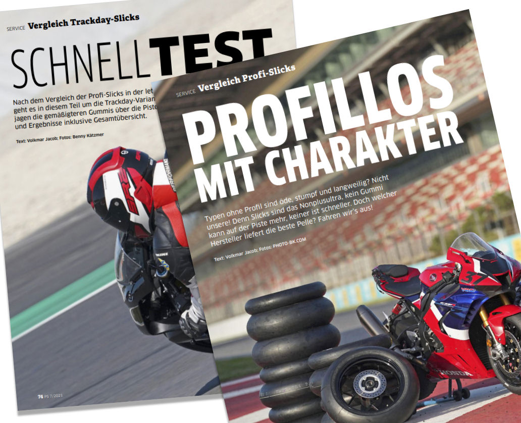 Tyre tests – Motorcycle slicks for racing & track days
