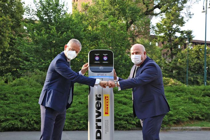 EV recharging facilities for Pirelli's Driver network