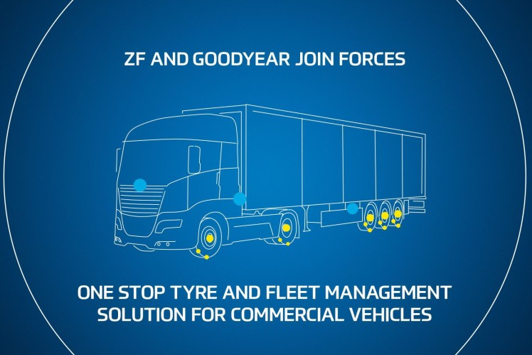 ZF and Goodyear partner on sensor agnostic fleet management solutions