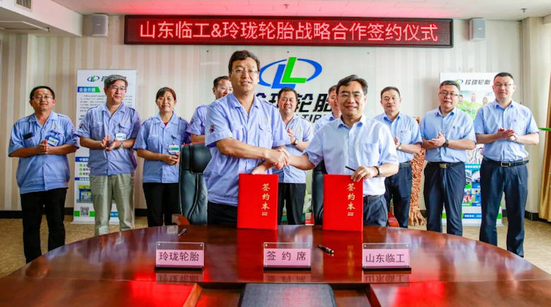 Linglong Tire cooperating with Volvo Group's Shandong Lingong