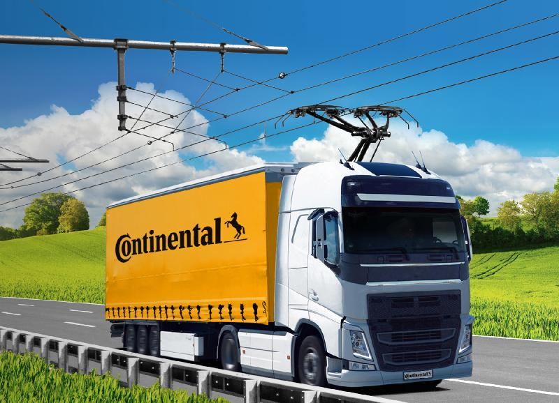 Continental developing pantographs for 'trolleytrucks'