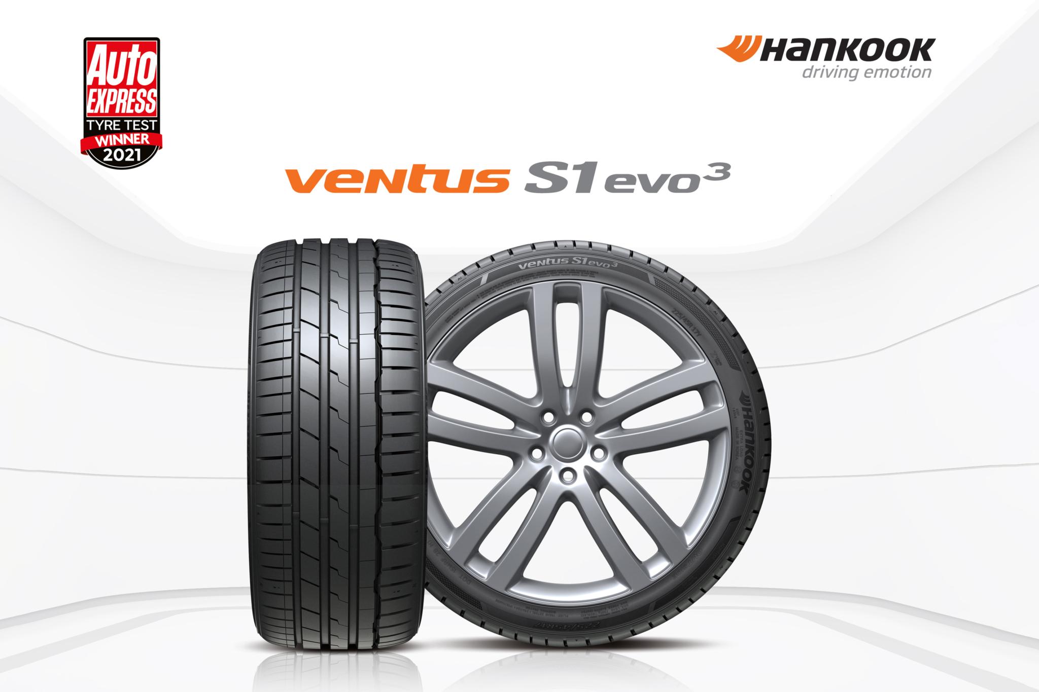 Hankook Ventus S1 evo 3 wins Auto Express 2021 Summer Tyre Test