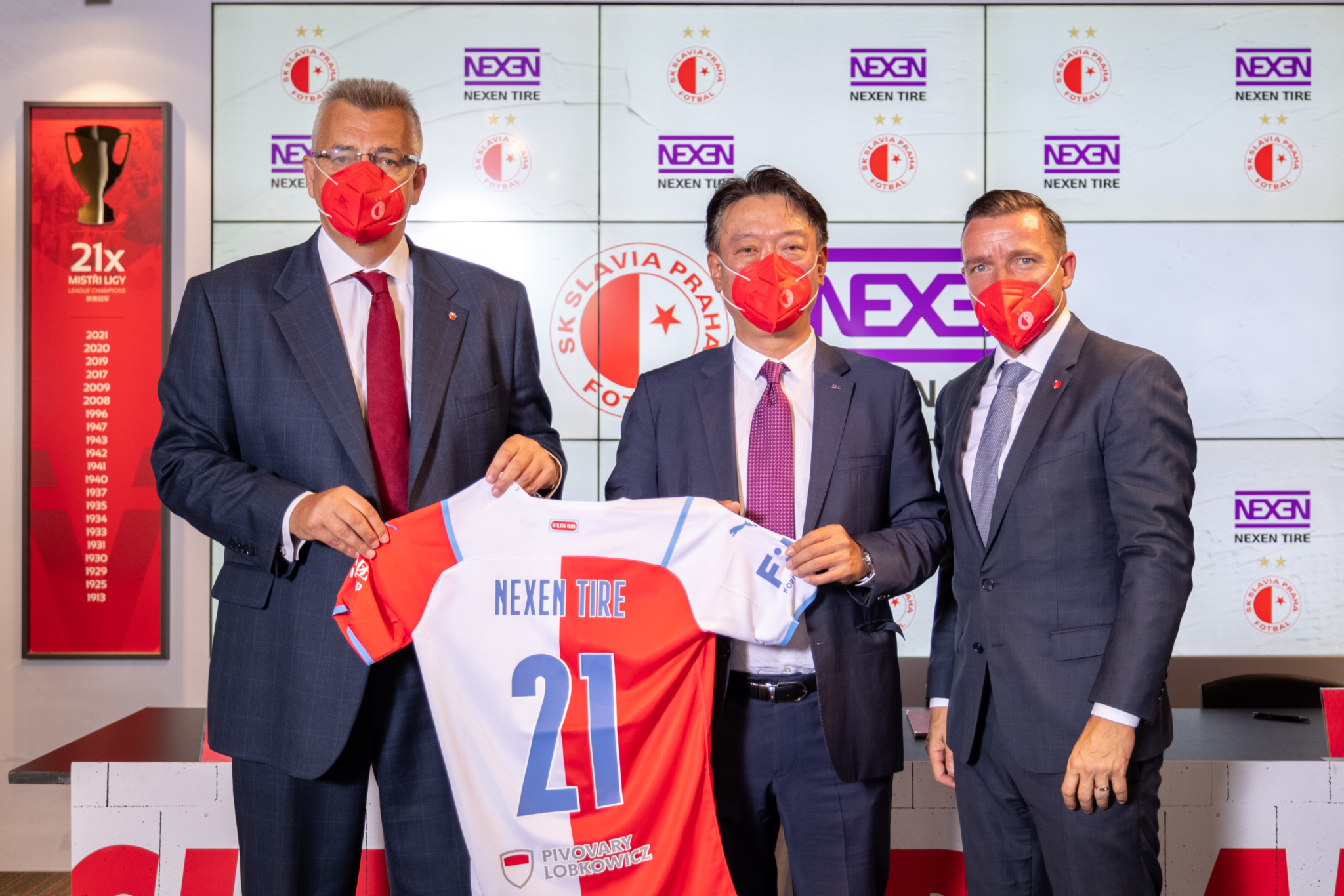 Nexen Tire signs 2-year SK Slavia Praha sponsorship deal